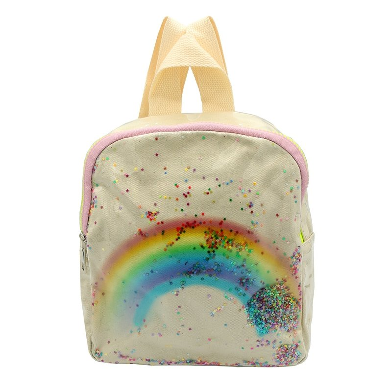 Sparkle Sisters Rainbow Backpack  White