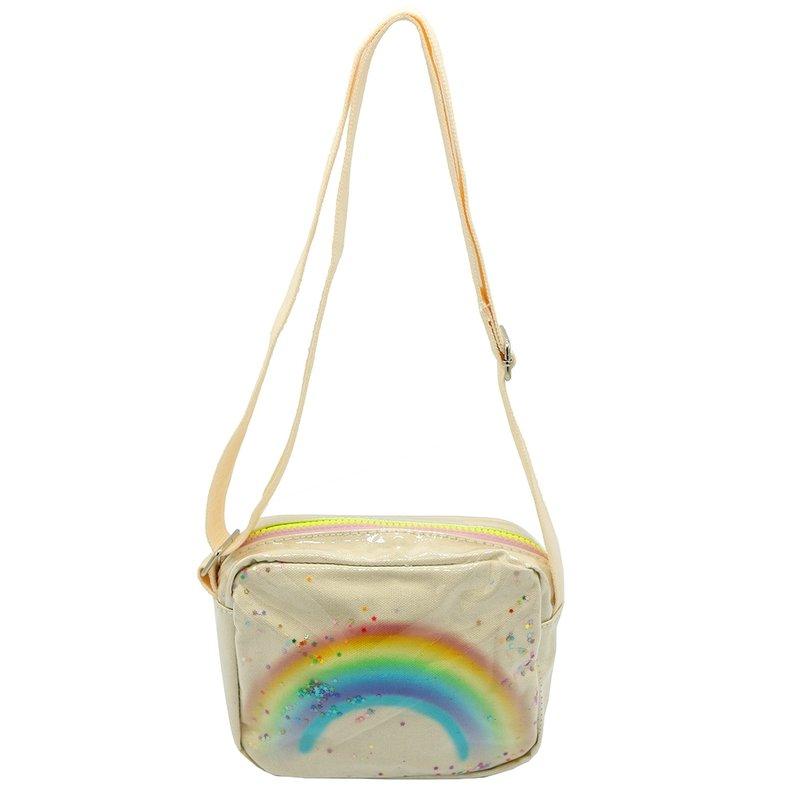 Sparkle Sisters Rainbow Purse White