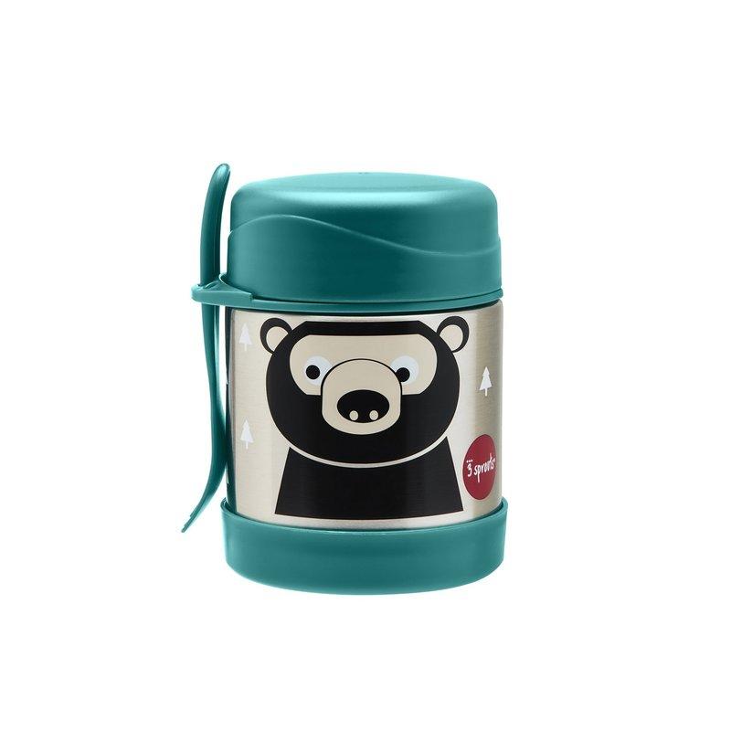 3 Sprouts Bear SS Food Jar