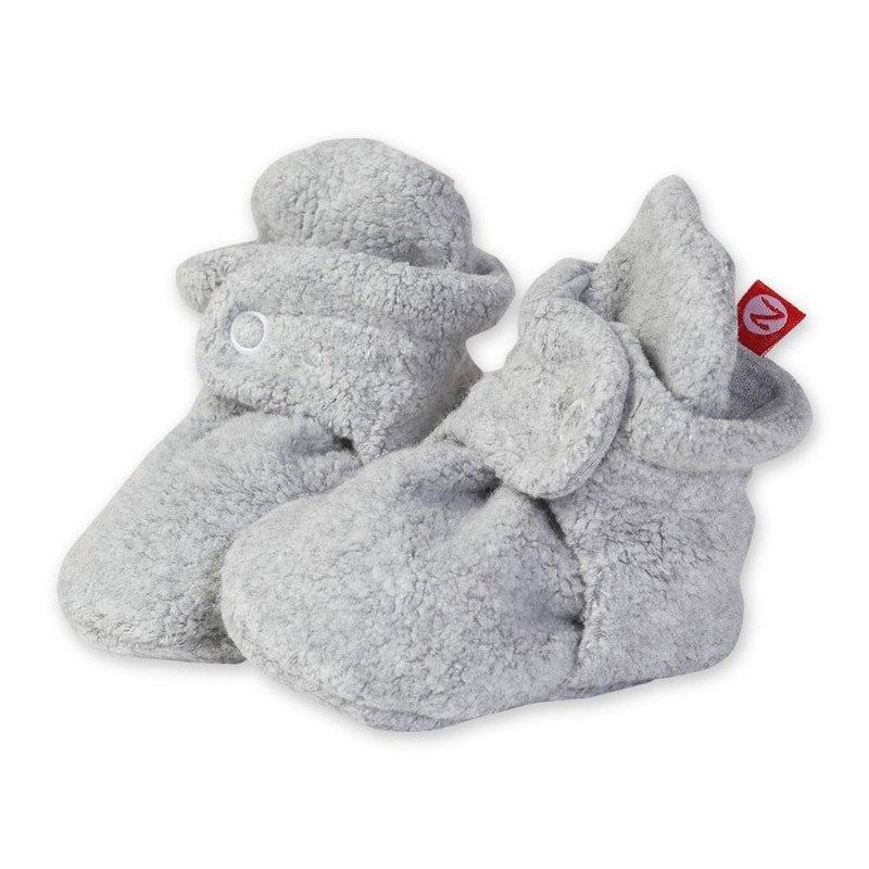 Zutano Zutano Cozie Fleece Baby Booties H.Grey