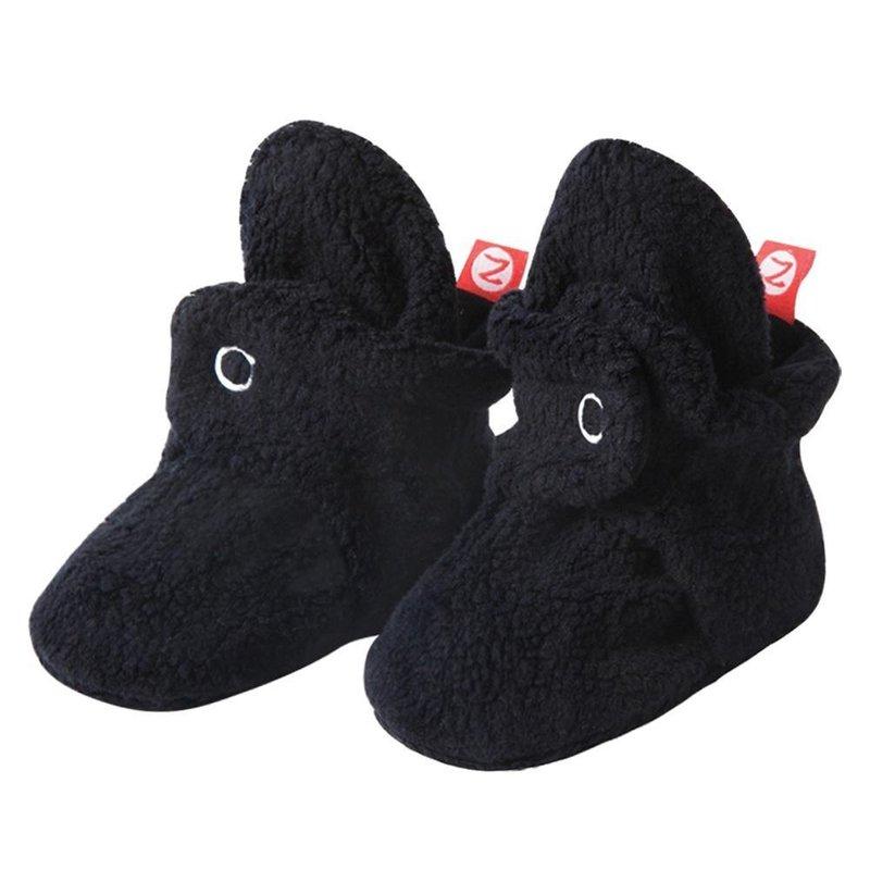 Zutano Zutano Cozie Fleece Booties Black