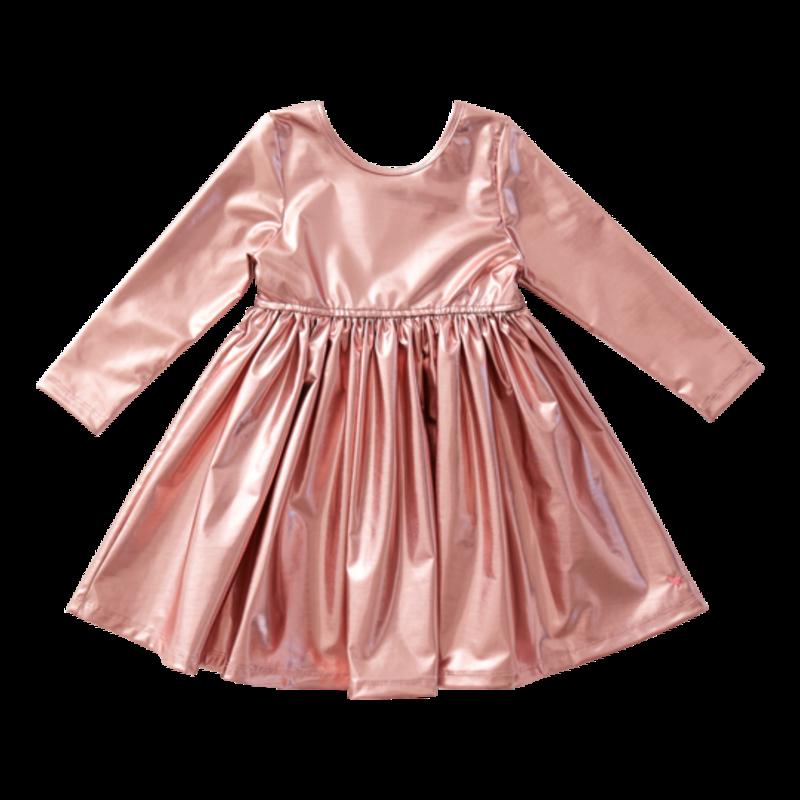 Pink Chicken Pink Chicken Toddler Liza Lamé Dress