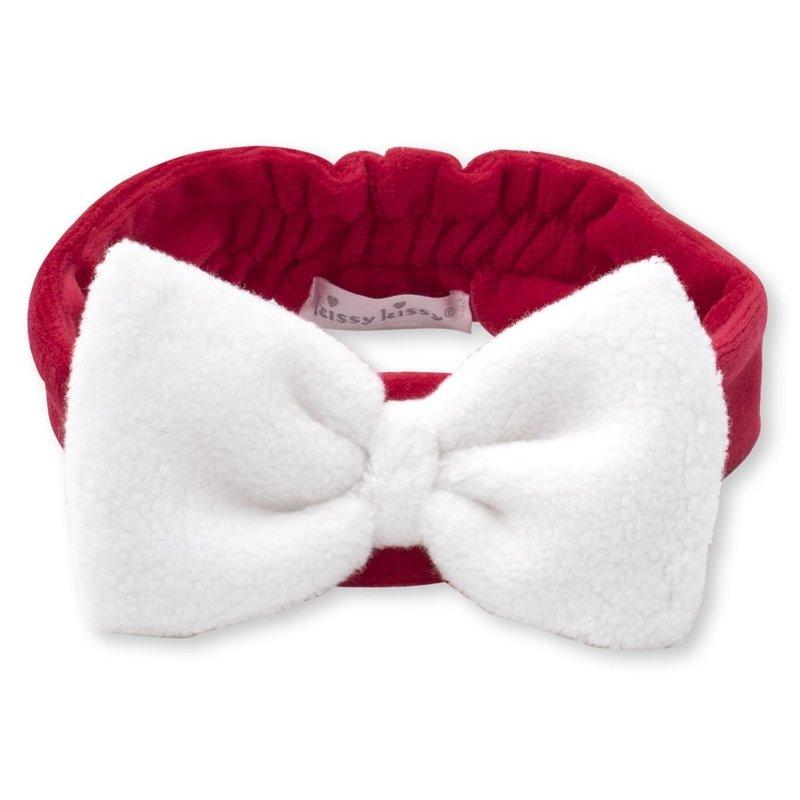 Kissy Kissy Kissy Kissy Santa Velour Headband - RED