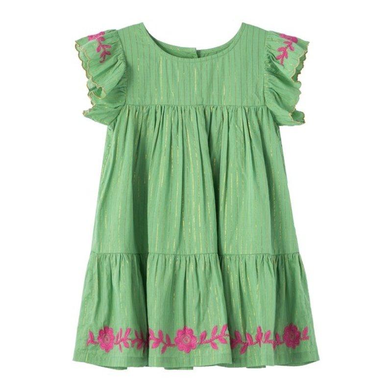 Kissy Kissy Peek Flutter Slv Tiered Dress