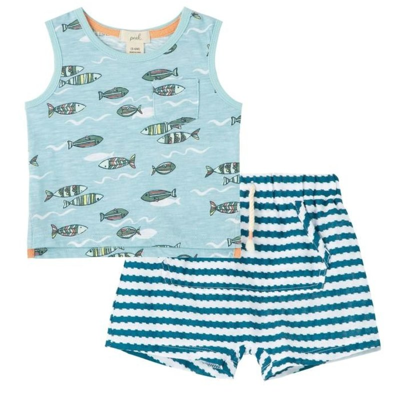 Peek Baby Fish Tank Short Set