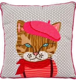 "Karma Living Pierre Cat Pillow 18X18"""