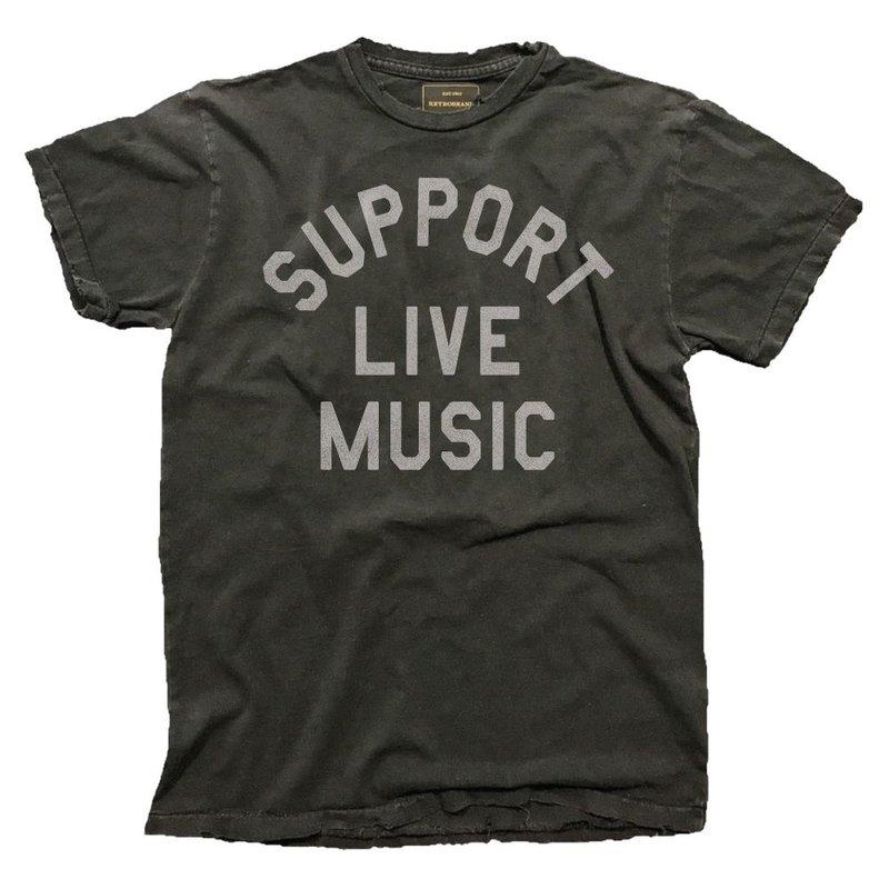 Retro Brand M's Support Live Music Tee