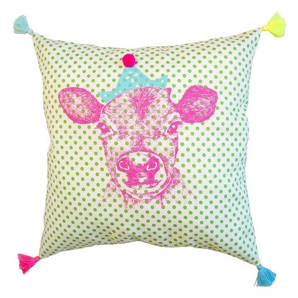 Everbloom Cow Pillow
