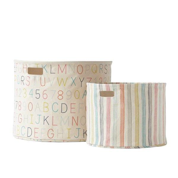 Pehr Designs Pehr Deigns Rainbow Stripe Medium Storage Tote