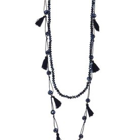 Kole Jewelry Design Crystal Tassel Necklace