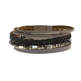 Kole Jewelry Design Faux Leather Bracelet