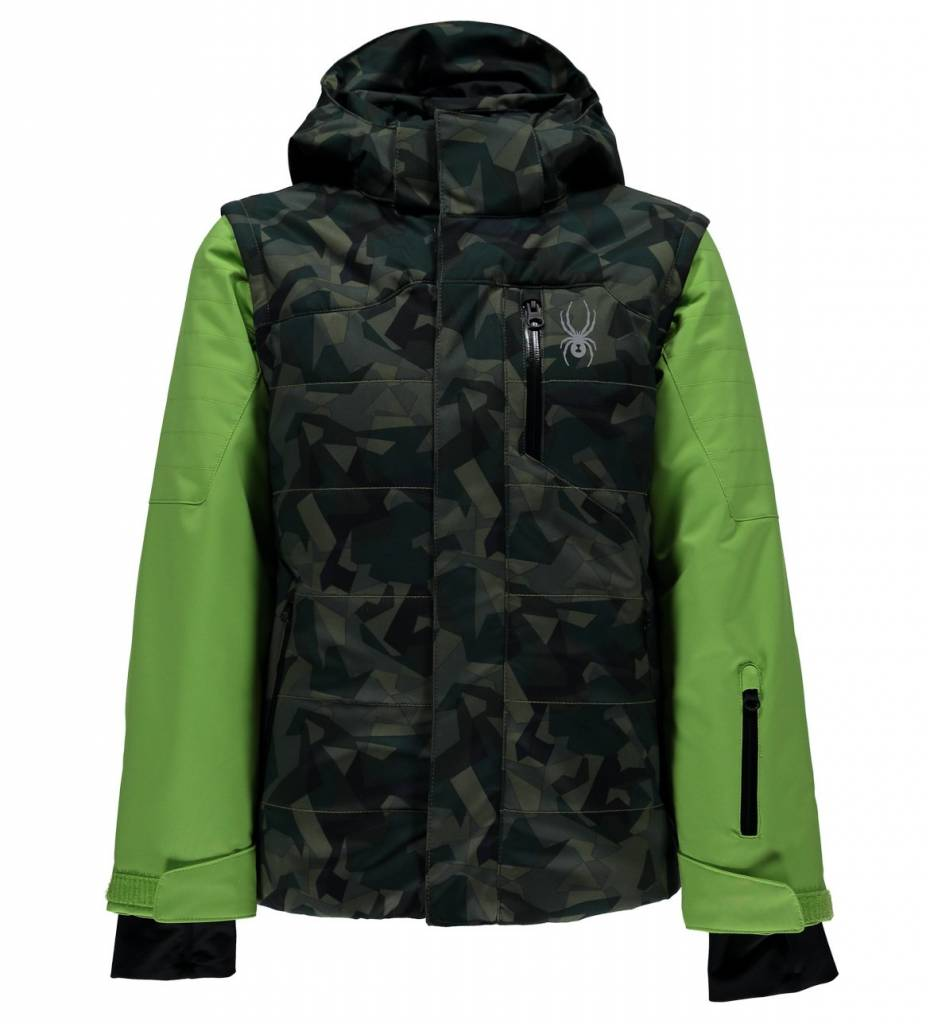Spyder Spyder Boys Axis Jacket Yellow Turtle