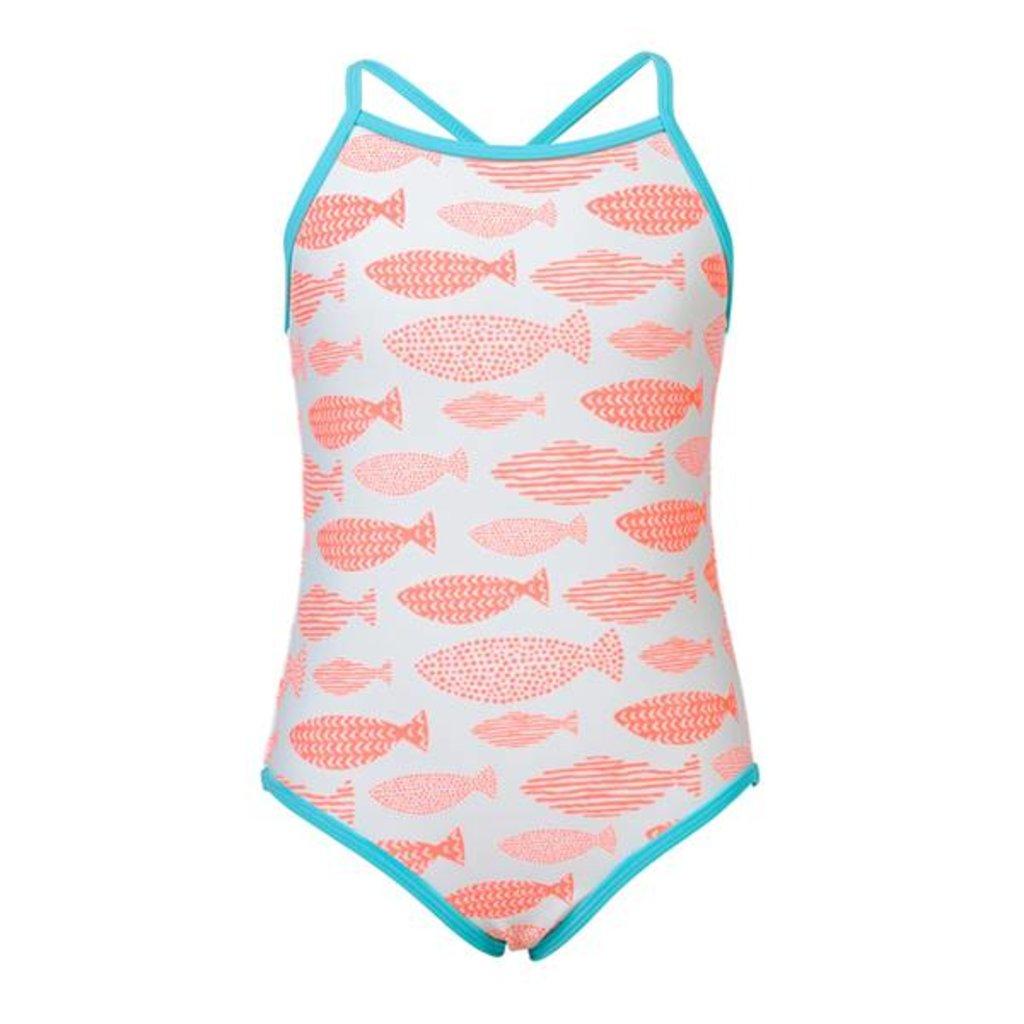 Snapper Rock Snapper Rock Girls Cross Back Swimsuit - Size 3