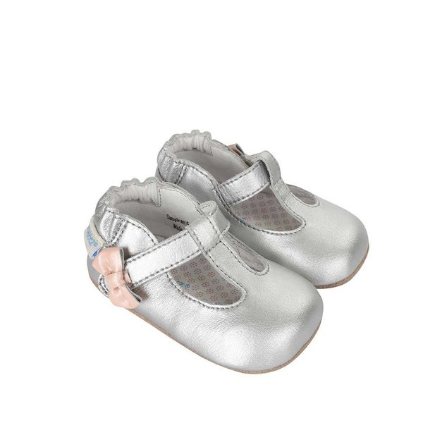 Robeez Robeez Baby Teahans Silver Shoes