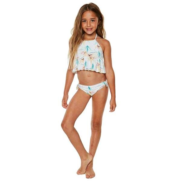 2b9c87114f O Neill Girls Paradise Tankini - Yellow Turtle