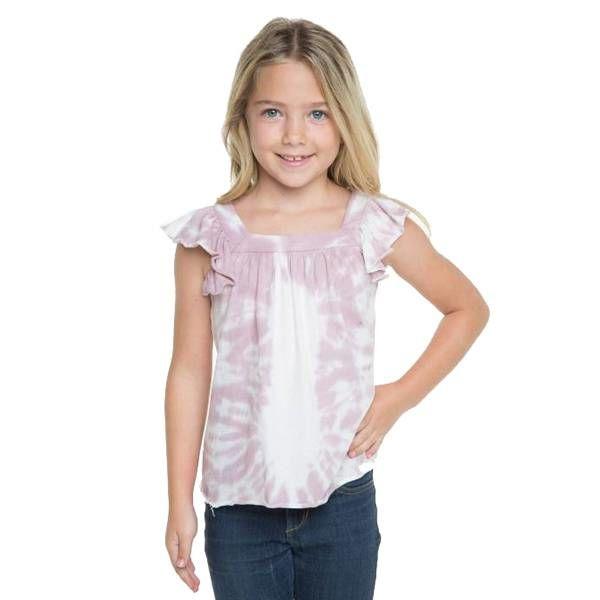 Chaser Kids Chaser Girls Flutter Sleeve Top