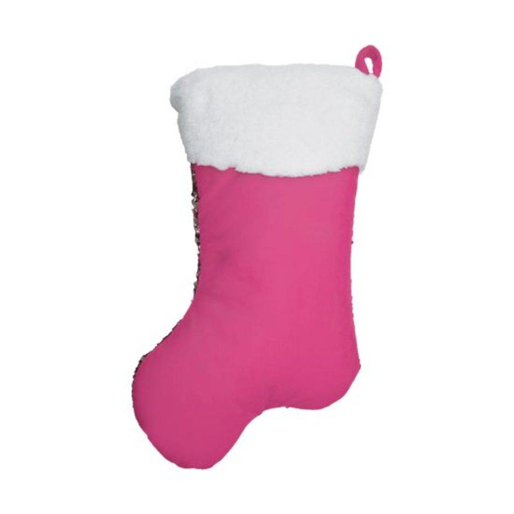 Iscream Iscream Mini Holiday Stocking Reversible Sequin Pillow