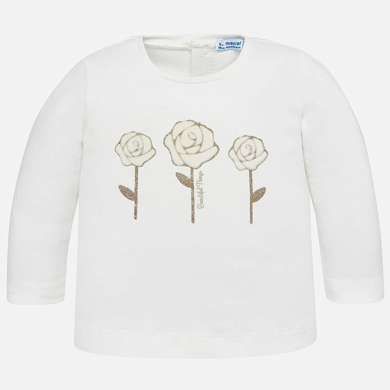 Mayoral Mayoral Baby LS Flower T-Shirt