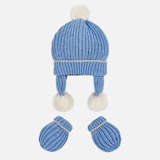 Mayoral Mayoral Baby Hat and Mitten Set - Size: 3 Months