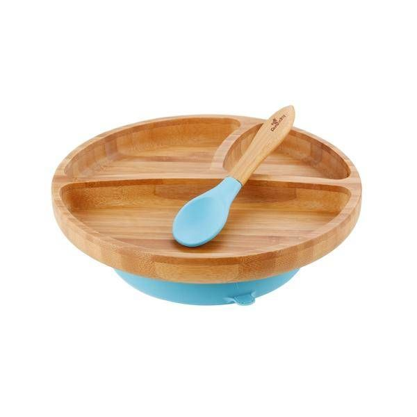 Avanchy Avanchy Bamboo Suction Toddler Plate & Spoon