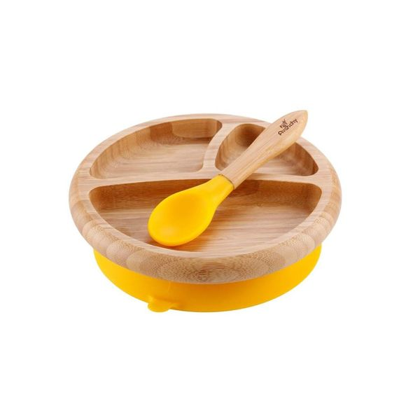 Avanchy Avanchy Bamboo Suction Baby Plate & Spoon