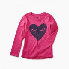 Tea Collection Tea Collection Girls Corazon Graphic Tee - Size: 2