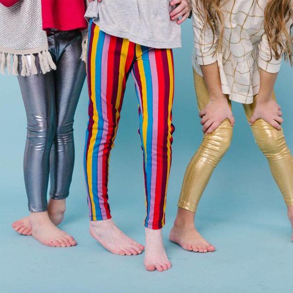 Pink Chicken Pink Chicken Girls Striped Leggings