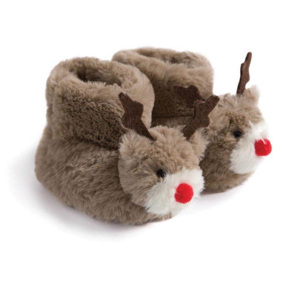 JoJo Maman Bebe JoJo Maman Bebe Kids Reindeer Slippers