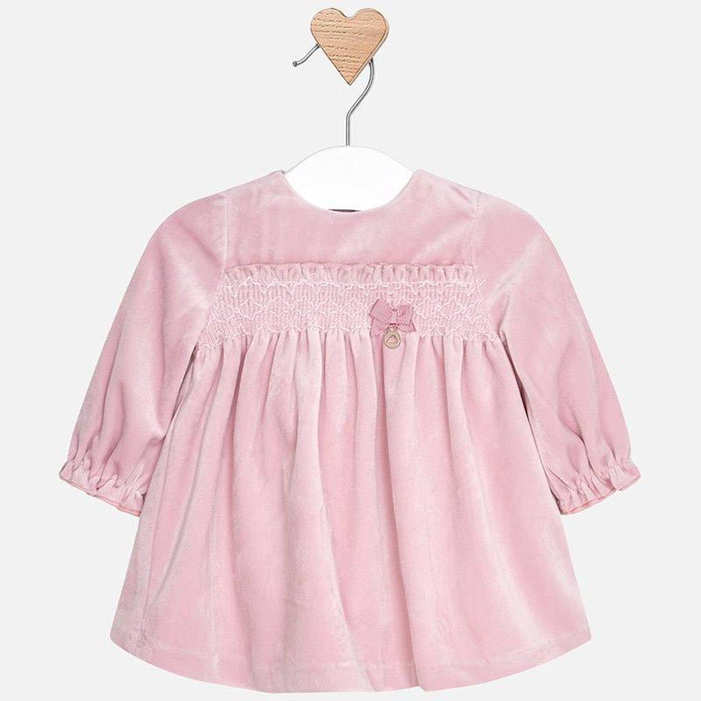 Mayoral Mayoral Baby Girl Velvet Dress