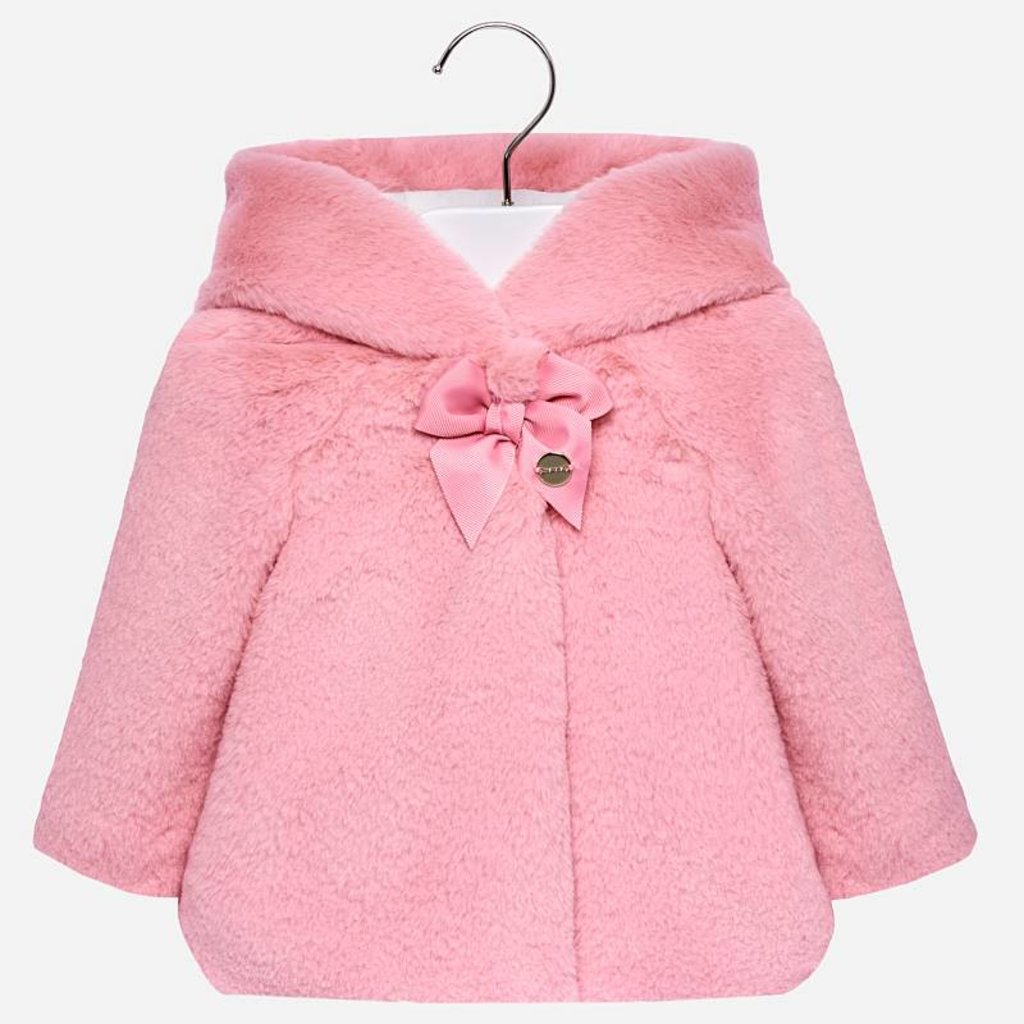 Mayoral Mayoral Faux Fur Baby Girl Coat - Size: 6 Months