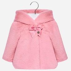 Mayoral Mayoral Faux Fur Baby Girl Coat