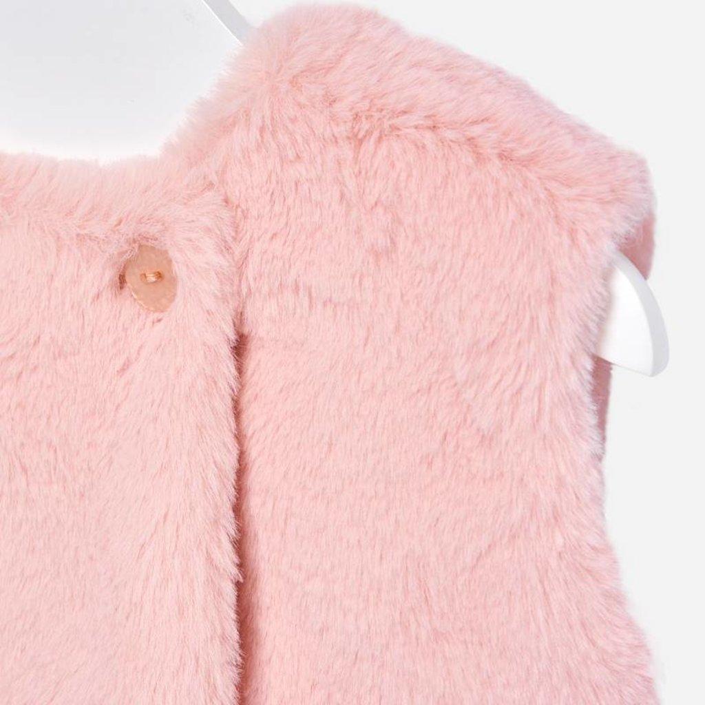 Mayoral Mayoral Faux Fur Baby Girl Vest