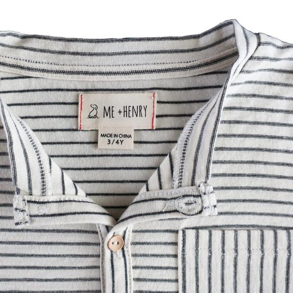 me & henry Me & Henry Striped Henley T-Shirt