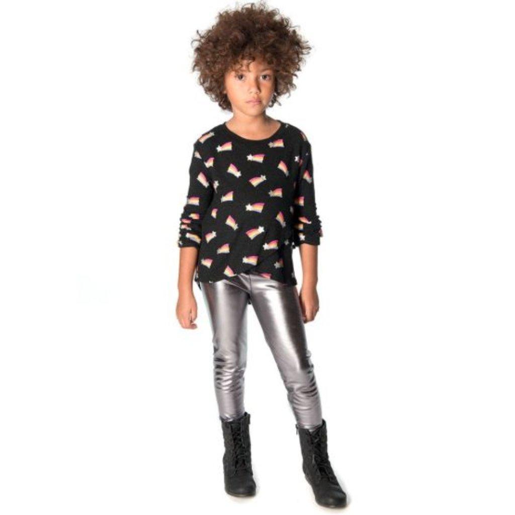 Appaman Appaman Girls Silver Leggings - Size: 2T