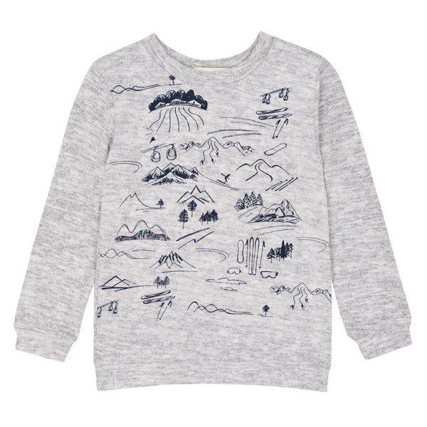 Deux par Deux Deux par Deux Boys Mountain Sweatshirt