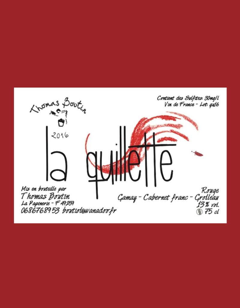 France Thomas Boutin, 'La Quillette' Anjou Rouge 2018