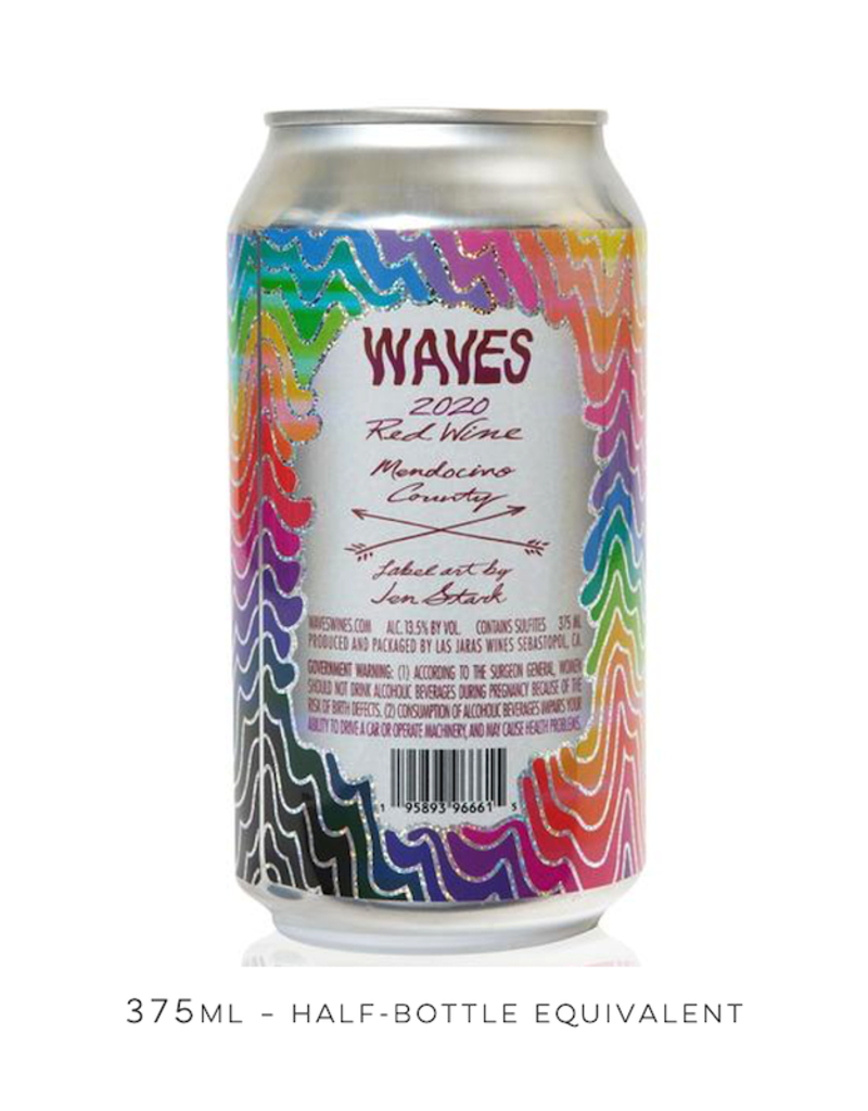 USA Las Jaras, Red 'Waves' 2020 Can - 375mL