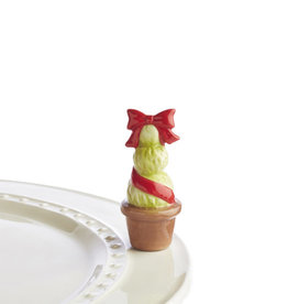 NORA FLEMING GARDEN OF JOY TOPIARY RED TOPPER