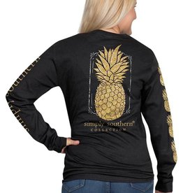 SIMPLY SOUTHERN TEES Pineapple Long Sleeve Large