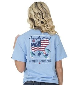 SIMPLY SOUTHERN TEES Simply Strong Short Sleve  XL