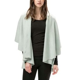 LOOK BY M BASIC SHAWL VEST: COOL MINT