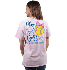 SIMPLY SOUTHERN TEES PREPPY SOFTBALL LARGE