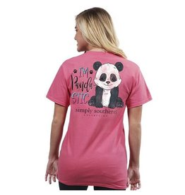 SIMPLY SOUTHERN TEES PREPPY PANDASTIC BEGONIA YOUTH LARGE