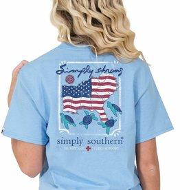 SIMPLY SOUTHERN TEES Simply Strong Short Sleeve Large