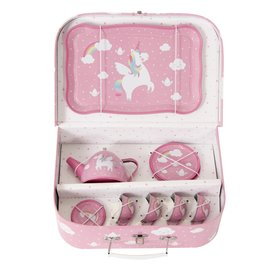 SASS & BELLE RAINBOW UNICORN PICNIC BOX TEA SET