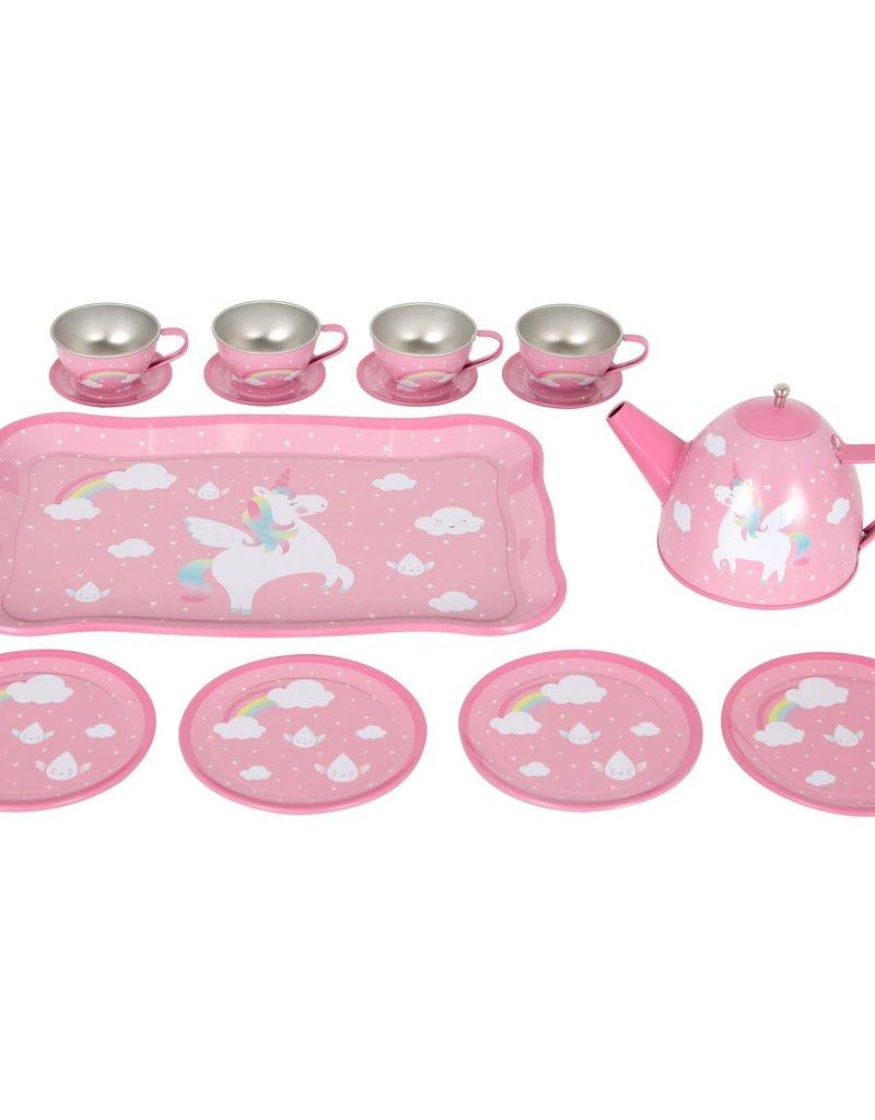 SASS & BELLE TEA SET RAINBOW UNICORN PICNIC BOX