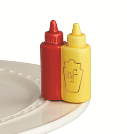 NORA FLEMING A230 KETCHUP & MUSTARD MINI