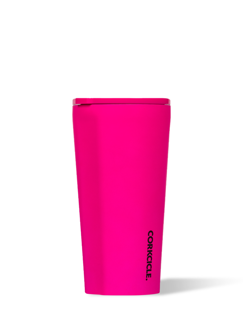 CORKCICLE TUMBLER 16OZ NEON LIGHTS PINK