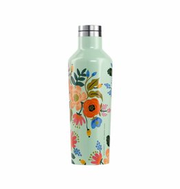 CORKCICLE RIFLE PAPER CANTEEN 16 OZ GLOSS MINT LIVELY FLORAL