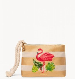 SPARTINA Carina Wristlet Flamingo Stripe blue dot